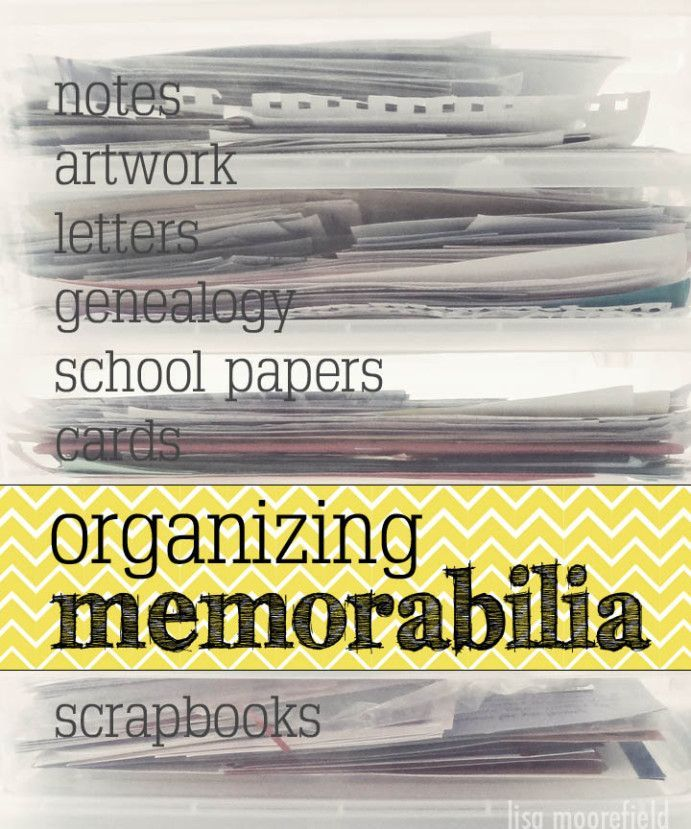 organizing memorabilia – love the tip take a photo of your kid with their art wo…