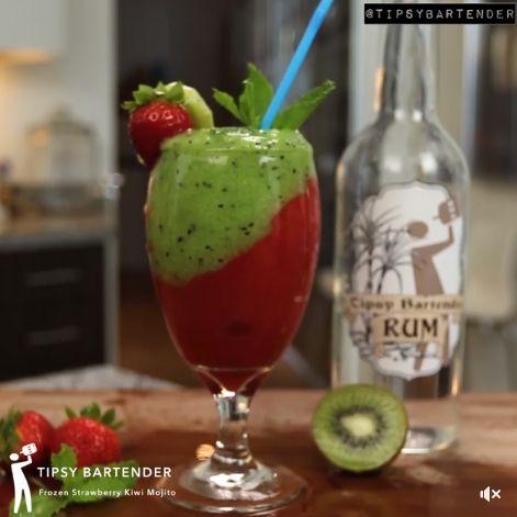 Strawberry-kiwi-rum-drink