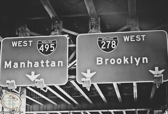 New York City Photography, Home Decor, Black and White Photography, NYC Photography, Office decor, Sign