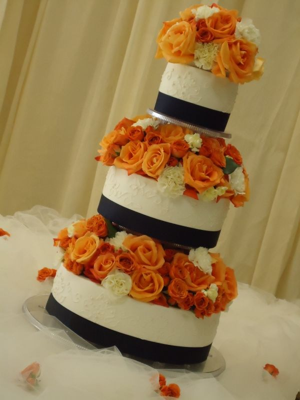 navy blue and orange wedding cakes gallery for gt orange and navy blue wedding cakes wedding 17756