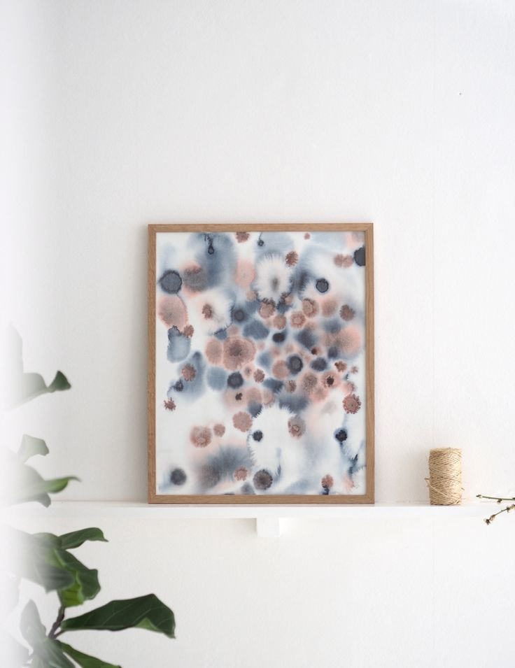 """Watercolour art print made by Silke Bonde. Inspired by the patterns and colors under the sea. Buy the """"Under water"""" collection online. Worldwide shipping."""