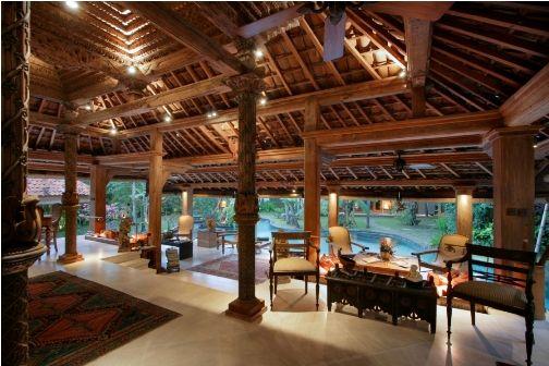 The Joglo Interior at Villa Des Indes