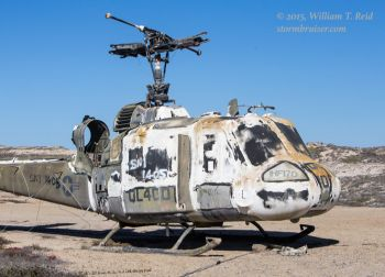 Derelict UH-1 target placed at Rock Crusher Beach on Western SNI