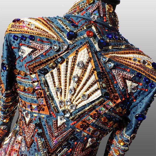 """Rock 'N' Roll Train"" Showmanship Jacket, custom made for Jessica Bartholatus http://www.lacollezionedianna.com/posts/rock-n-roll-train"