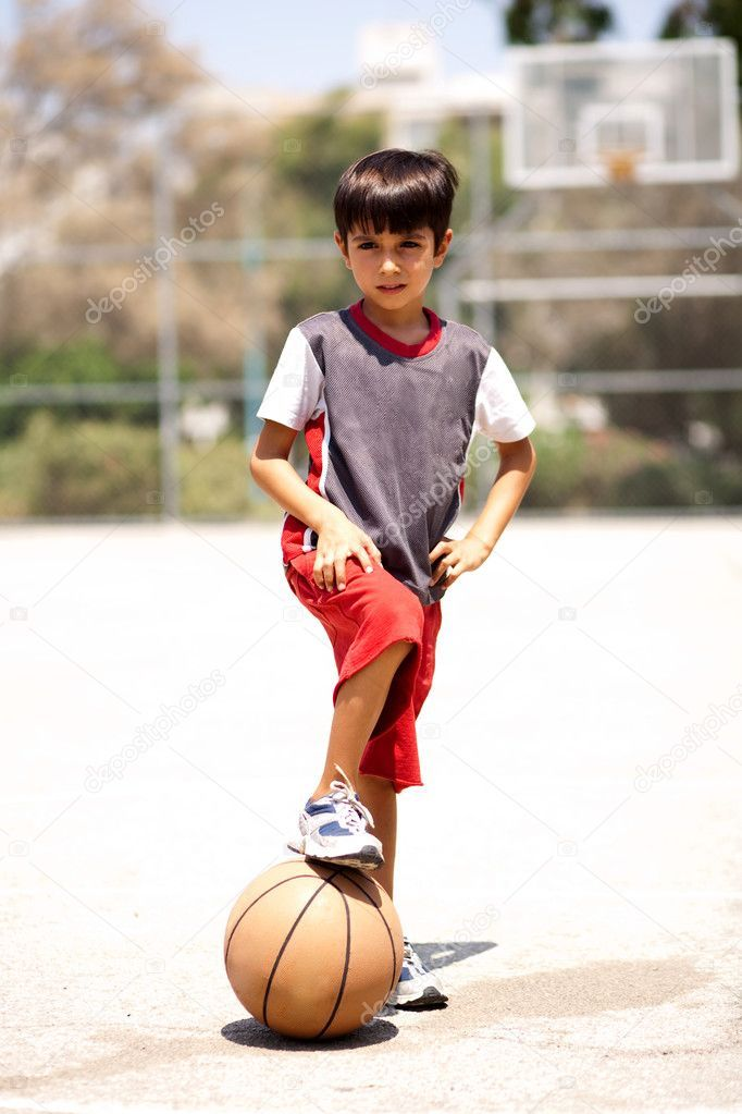 Smart Kid Holding Basketball Under His Leg Royalty Free Stock Photos Affiliate Holding Basketball Smart Kid With Images Sport Dress Smart Kids Sport Outfit Men