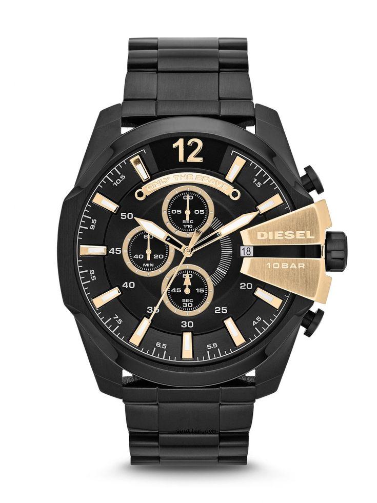 Diesel DZ4338 Kol Saati https://www.saatler.com/diesel-dz4338-kol-saati/  100 Metre Su Geçirmez Özelliği  Siyah paslanmaz çelik kasa ve bilezik iyon kaplama.  Parlak altın detayı ve saat işaretleri içerisindeki siyah kadranı modanın trendlerini yansıtıyor.  Arapça rakam 00:00 pozisyonunu işaretler.  Dış kenarı etrafında Dakika işaretleri.  Türü Dial: Analog. Işıklı el ve işaretçileri.03:00 konumundaki tarihi görüntüler.  Chronograph - üç alt kadranları: 60 saniye 60 dakika ve saniyenin 1…