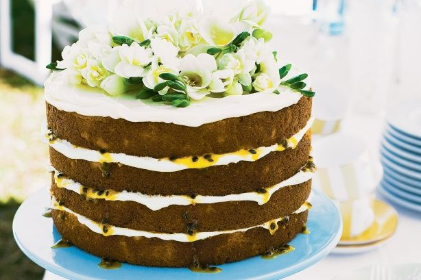 Your guests will be in awe of this beautifully presented layer cake filled with delicious cream cheese icing and passionfruit.