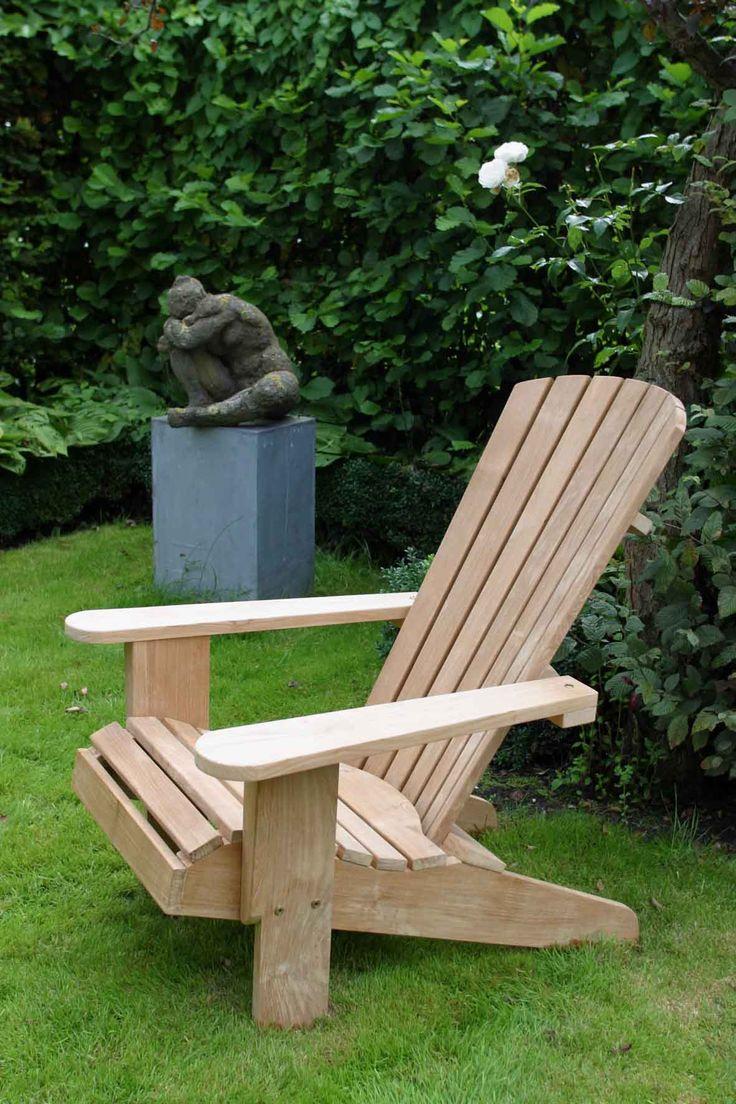 Doet denken aan South of Africa... op de veranda... kan ook in het gras... of op je balkon! Eigen ontwerp teak Adirondack van Annapart - Schellinkhout - The Netherlands