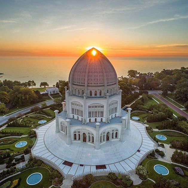 Bahá'í House of Worship  #bahai #houseofworship #Wilmette #Illinois #US #wilmettetravel #Illinoistravel #UStravel #traveldiary #dronephotography #thedronetravel
