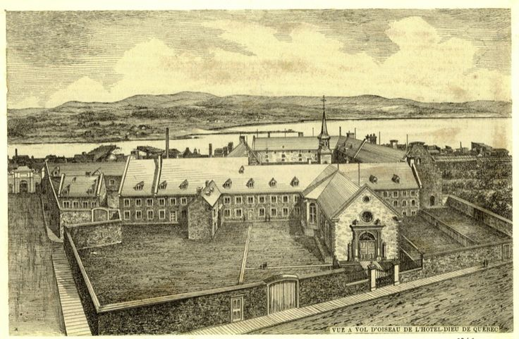 L'Hôtel-Dieu de Québec - The Hotel Dieu Hospital of Quebec, first hospital in New France, founded in 1639