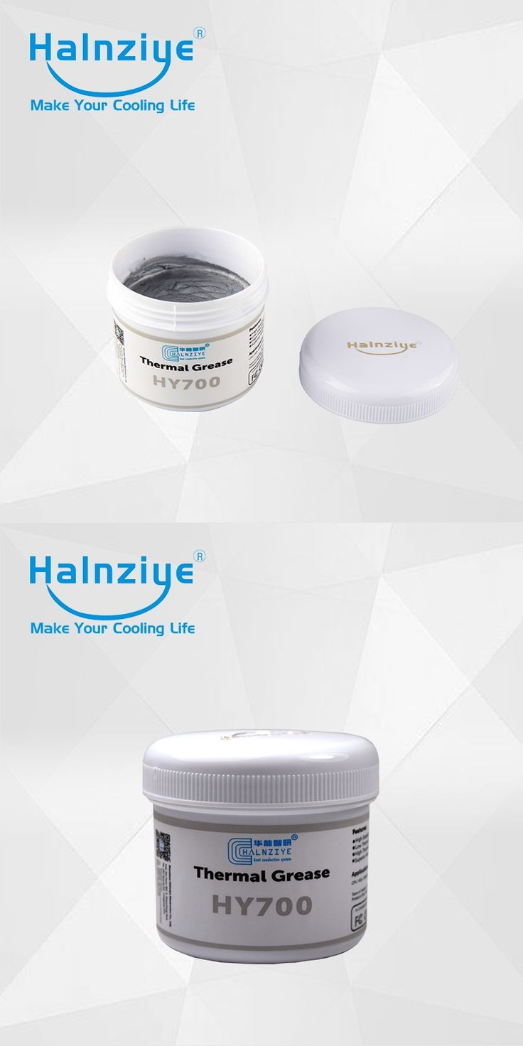 free shipping!!! Halnziye  HY710 Silver Thermal Grease/Heatsink Compound/ Paste with Jar 100g package via EMS shipping