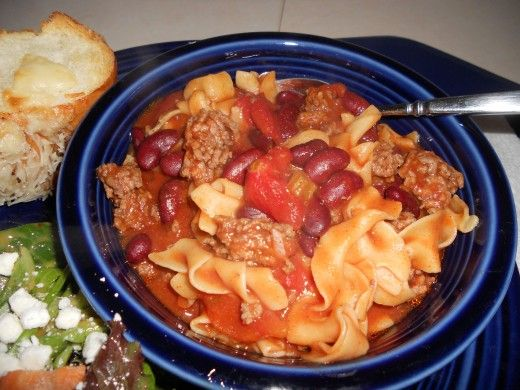 Grandma's Heirloom Northern Egg Noodle Chili: Easy and Under-30-Minutes