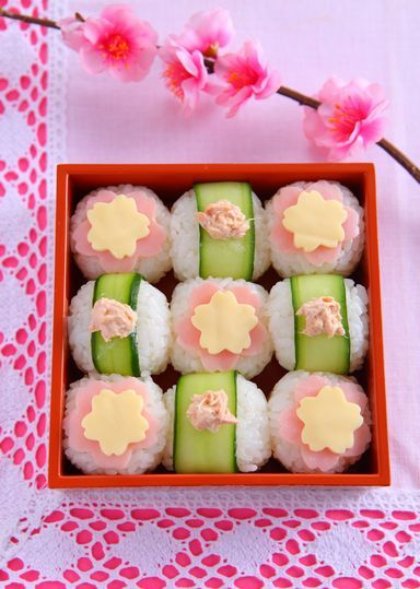 日本人のごはん/お弁当 Early Spring Temari Sushi Ball Japanese Bento BoxedLunch © ABC Cooking Studio