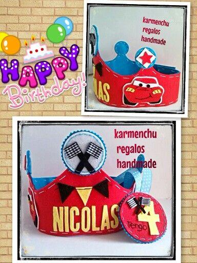 Corona de Cumpleaños  Cars Sigueme en facebook  KARMENCHU REGALOS HANDMADE