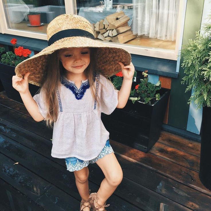 Even a little gal can pull off a hat like this!