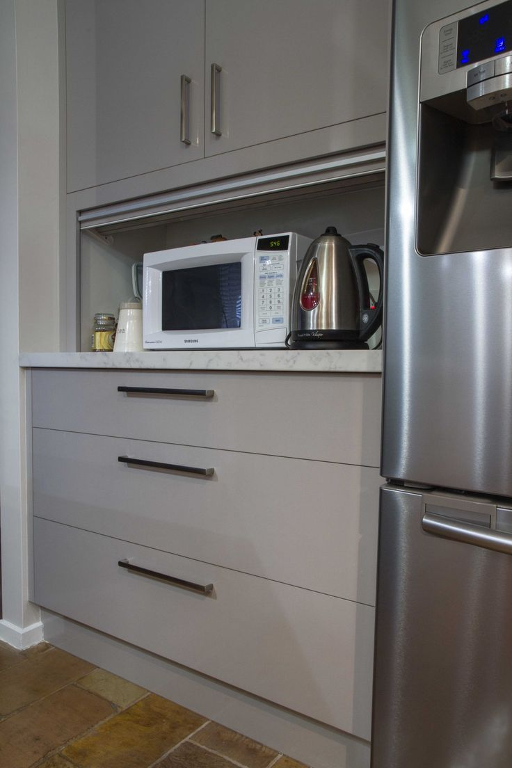Appliance pantry. Contemporary kitchen. www.thekitchendesigncentre.com.au