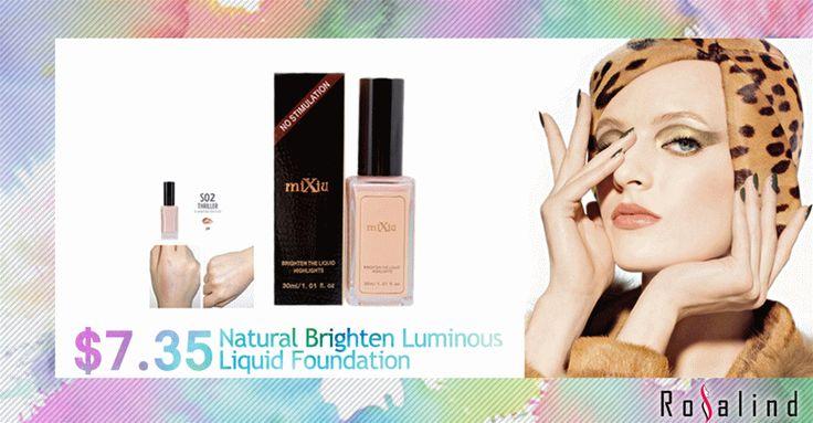 Aliexpress.com: Comprar Rosalind Natural Brighten luminoso cara fundación líquido corrector belleza maquillaje mc ajuste caliente venta de maquillaje máscara fiable proveedores en Rosalind Beauty Shop