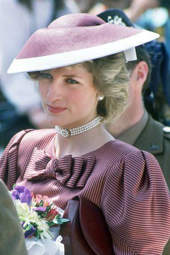 April 28, 1985: Princess Diana accompanies Prince Charles on a visit the Anzio Beach Head Cemetery to honour those killed in the landings in 1944. Day 10