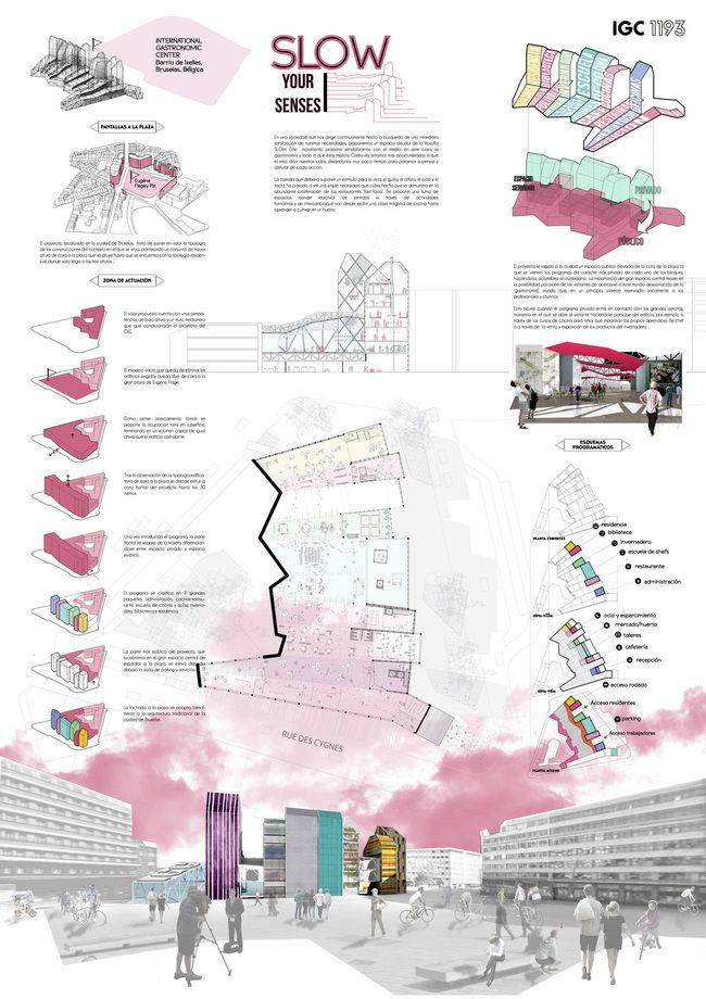 Second Prize: Enrique Alonso Blanco, Patricia Ocaña Alcober, Paula Peña Toril (Escuela Técnica Superior de Arquitectura of Madrid, Spain)