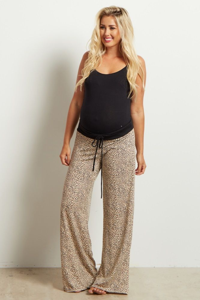 These animal print maternity pants are the perfect sleepwear or lounge wear essential. A soft-to-the-touch material for comfort and a gorgeous print for style make these one of our favorite pieces to invest in this year. Pair these beautiful maternity pants with a basic maternity cami or tee for a complete ensemble.