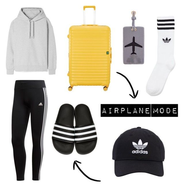 """""""Airplane mode ✈️"""" by maudkattenbroek on Polyvore featuring mode, adidas, Acne Studios, adidas Originals, Lojel en Lolo"""