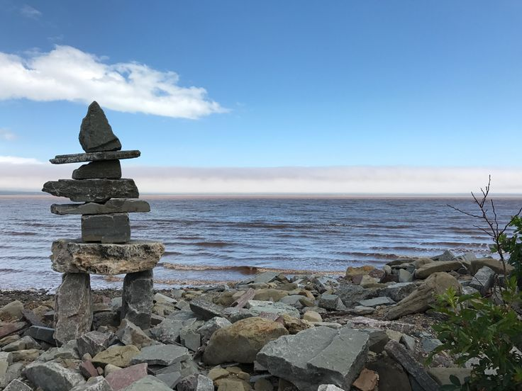 Some personal artwork at the Bay of Fundy, NB