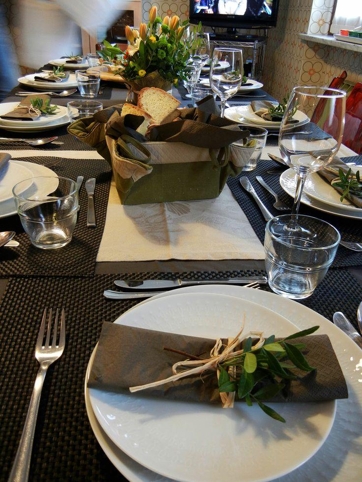 """La mia tavola apparecchiata per la cena """"Regionale"""" con i miei fratelli."""