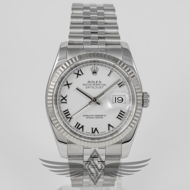 Rolex Datejust 36mm Stainless Steel Case White Gold