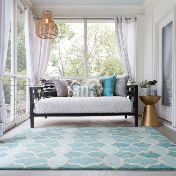 The tastefully designed Tatum rug features vibrant colors and bold patterns that instantly uplift the mood of your room.