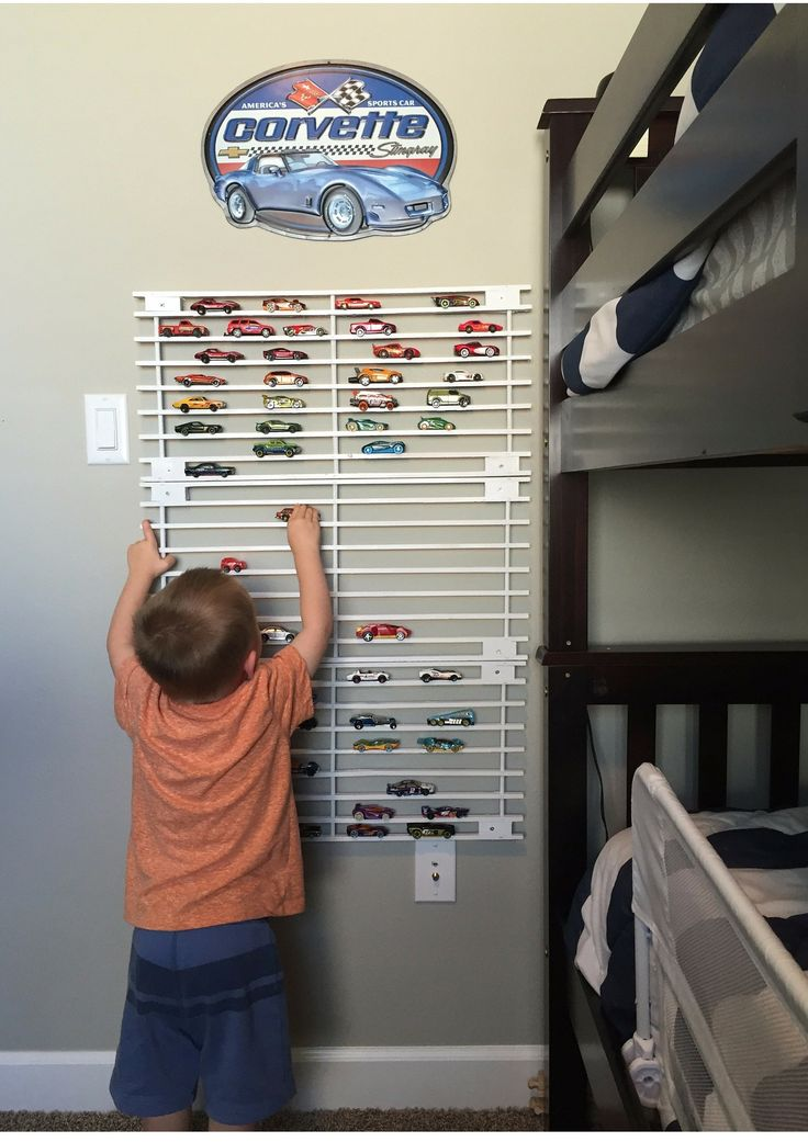 DIY car storage display. So easy!