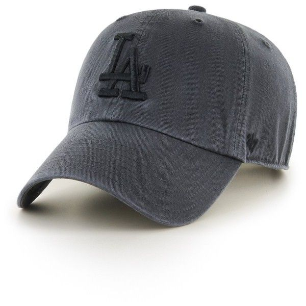 Women's '47 Clean Up La Dodgers Baseball Cap ($25) ❤ liked on Polyvore featuring accessories, hats, charcoal, baseball caps hats, los angeles dodgers hats, ball cap, '47 brand and curved brim baseball cap