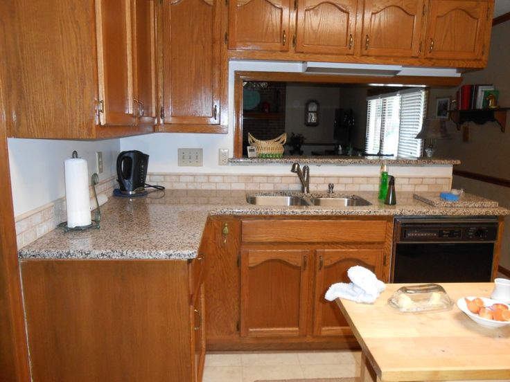 kitchen cabinet designs best soap dispenser creme caramel granite 60/40 sink half bull-nose edge 2x4 ...