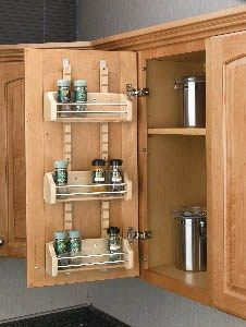 Maybe a good way to store spices and save space in the cupboard above the stove.