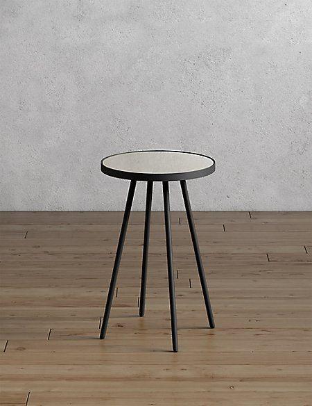 round metal glass side table in 2019 8 ashley gardens glass rh pinterest com