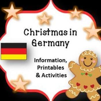 Christmas Around the World ** Germany ** Map, Recipe & Rea