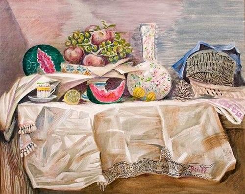 Nikos Hadjikyriakos-Ghika - Summer table - 1978