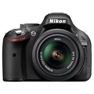 Nikon D5200 Digital SLR with 18-55mm VR II & 55-200mm VR II Lens Kit - Black