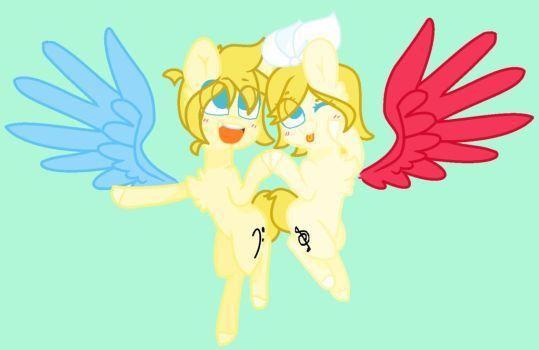 Rin Y Len Electric Angel Pony by RankieDashLight002