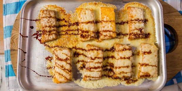 Try this Crispy Polenta with Cheese and Balsamic Glaze recipe by Chef Michela Chiappa . This recipe is from the show Michela's Tuscan Kitchen.