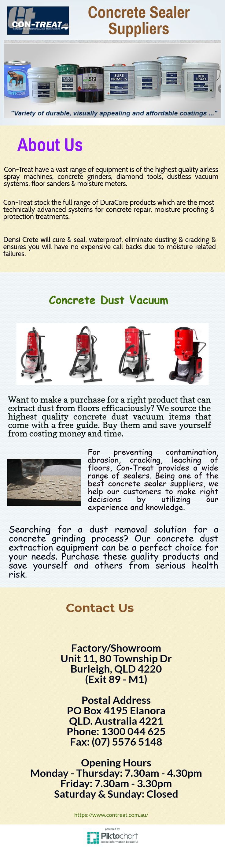 Searching for a dust removal solution for a concrete grinding process? Our concrete dust extraction equipment can be a perfect choice for your needs. Purchase these quality products and save yourself and others from serious health risk.