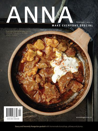 Anna Magazine - from Saveur's 16 Great Indie Food Magazines (http://www.saveur.com/article/Kitchen/16-Great-Indie-Food-Magazines) Very simplistic cover, lets the food speak for itself