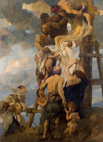 Ettore Tito: Descent from the Cross - 1911