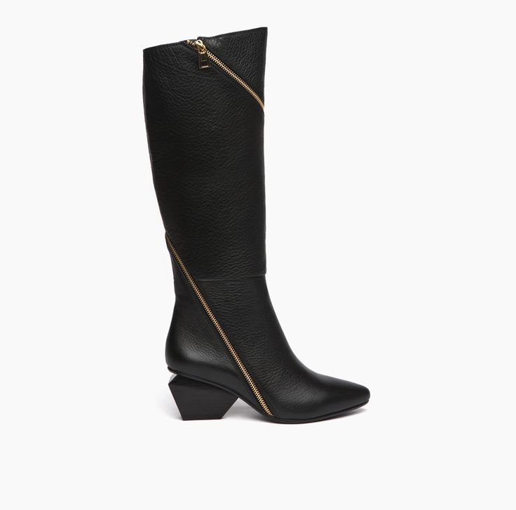 Rocky Black Leather Boot Mid height