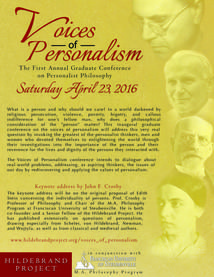 Voices of Personalism | Hildebrand Project