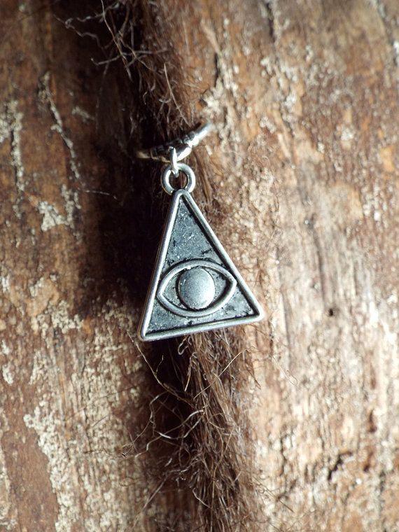 Silver Tone Pyramid Eye Dread Charm Dreadlock by PurpleFinchStore
