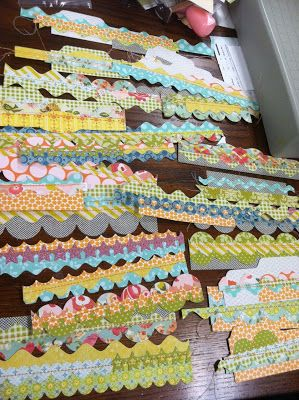 Mish mash border die cut strips instructions to make for Paper mashing art