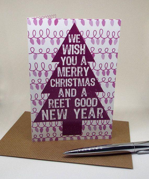 Christmas Card - Funny Christmas Card - Northern Slang - Manchester Slang - Greetings Card - Christmas Tree - Xmas Card - Northern Humour - Manchester www.craftyjacks.com