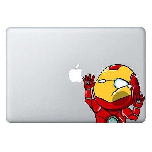 SIZE The TRAPPED SERIES Macbook/Laptop Decals are 5 inches (12.7 cm) wide and the length depends on the character. Please check the SAMPLE IMAGE below for an idea on how the decal will look on differe