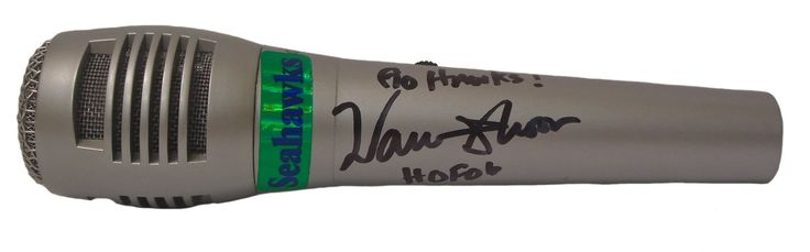"Warren Moon Autographed Seattle Seahawks Pyle Full Size Microphone, Proof Photo. Warren Moon Signed Pyle Full Size Microphone, Seattle Seahawks Radio Color Analyst, Proof   This is a brand-new Warren Moon autographed Pyle full size microphone featuring ""Go Hawks!"" & ""HOF '06"" inscriptions!  Warren signed the mic in black sharpie. Check out the photo of Warren signing for us. ** Proof photo is included for free with purchase. Please click on images to enlarge. Please browse our website for…"