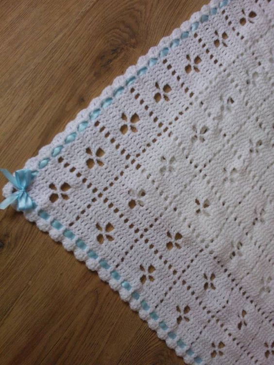 VIntage 50's/60's 'Call the midwife' inspired baby pram blanket by Krochetivity on Etsy